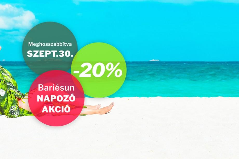 Akció a Bariesun fényvédő termékekre. 20% kedvezmény! Meghosszabbítva!
