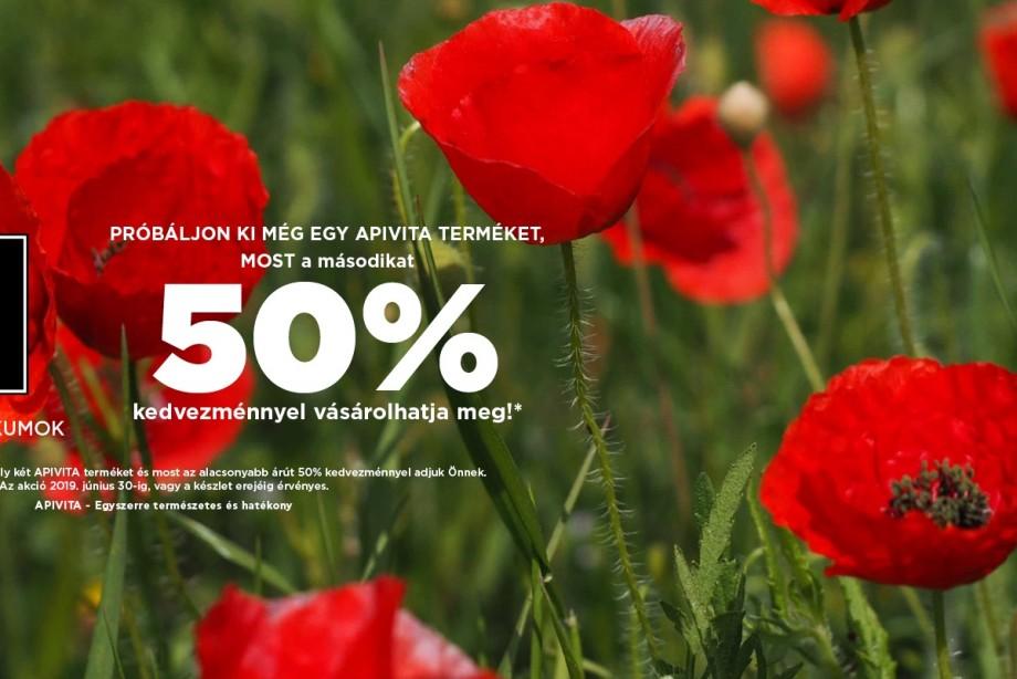 KIEMELT TAVASZI-NYÁRI 1+50% APIVITA AKCIÓ! JÚNIUS 30-IG.